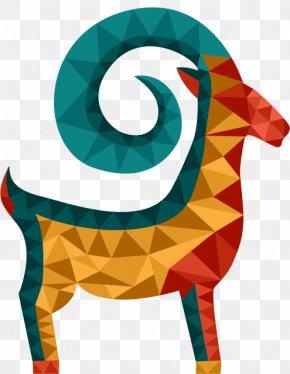 Vector Hand-drawn Geometric Goat - Goat Sheep Geometry Polygon PNG