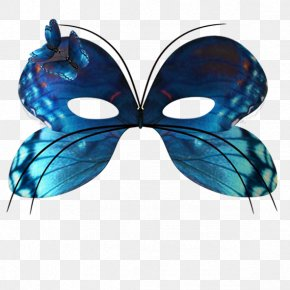 Blue Butterfly Mask - Mask Carnival Masquerade Ball Clip Art PNG