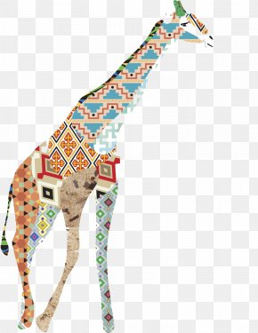 Hand Painted Giraffe - Northern Giraffe Lion Watercolor Painting PNG