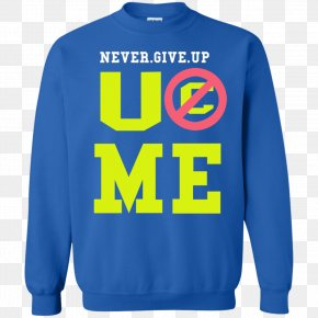 Never Give Up - Christmas Jumper Mistletoe T-shirt Sweater Hoodie PNG