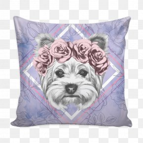 Pillow - Yorkshire Terrier Dog Breed Throw Pillows Cushion PNG