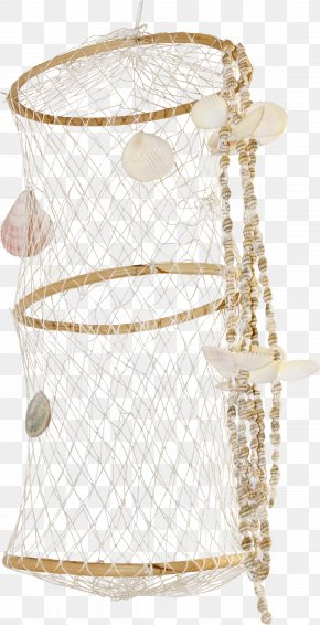 Shell Decorative Fishing Net - Fishing Net Fisherman Clip Art PNG