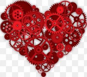 Heart-shaped Gear - Clockwork Heart Gear Cardiovascular Disease MisterChrono PNG