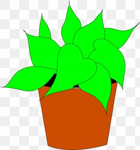 Potted Plant Cliparts - Houseplant Flowerpot Clip Art PNG