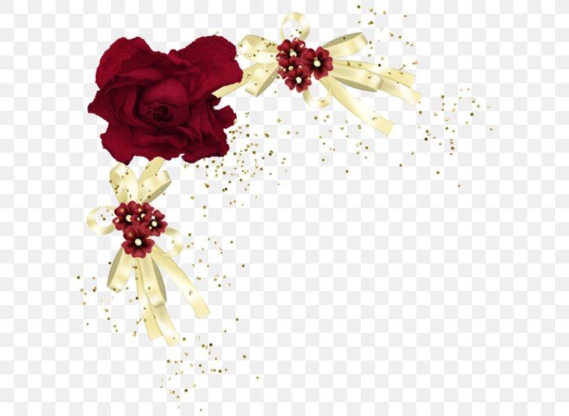 Red Rose Flower Border Design Png