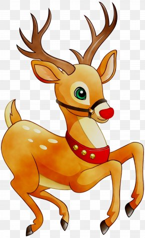 Reindeer Rudolph Santa Claus Christmas Day Candy Cane PNG