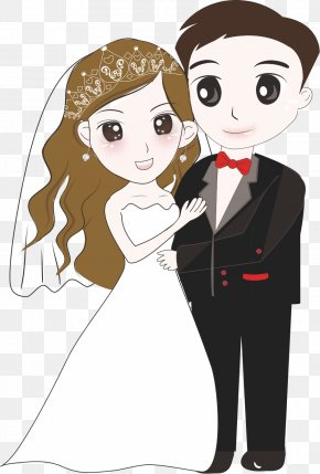 Cartoon Bride And Groom - Bridegroom Wedding Cartoon PNG