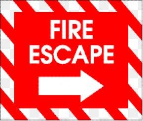 Square Arrow Direction Tips - Fire Escape Emergency Exit Clip Art PNG