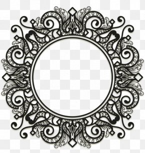 Vector Retro Palace Black Border - Picture Frame Ornament Clip Art PNG