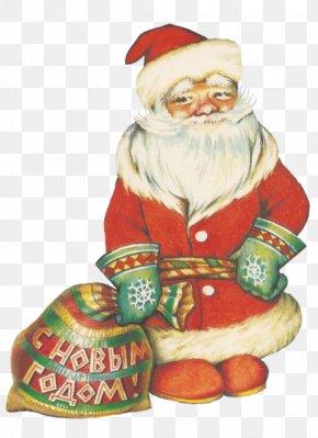 Santa Claus - Snegurochka Ded Moroz Santa Claus Christmas Ornament Drawing PNG