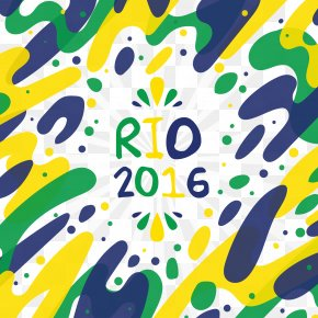Rio 2016 Olympic Games Vector Elements - 2016 Summer Olympics Rio De Janeiro Olympic Sports Poster PNG