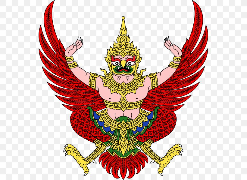 Emblem Of Thailand Garuda Flag Of Thailand National Emblem, PNG, 565x600px, Thailand, Art, Badge, Coat Of Arms, Emblem Download Free