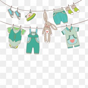 Vector Hanging Clothes - Infant Children's Clothing Euclidean Vector PNG