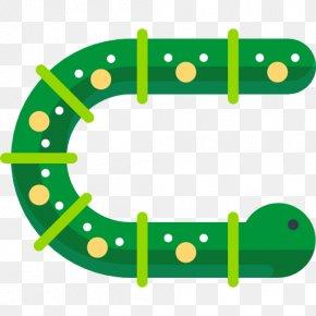 A Green Caterpillar - Ecofont Ink Toner Printing Font PNG