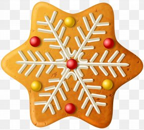 Christmas Cookie Snowflake Clipart Image - Christmas Ornament Gingerbread Clip Art PNG