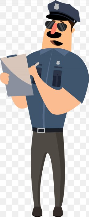 A Recording Officer - Police Officer Cartoon PNG
