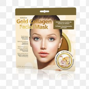 Face - Collagen Facial Face Mask Gold PNG