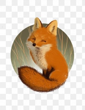 Little Prince Fox - Red Fox Watercolor Painting Drawing Art PNG