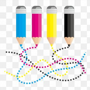 Color Pen And Curves - CMYK Color Model RGB Color Model Euclidean Vector Curve PNG