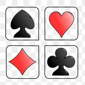 Playing Card Symbols Clip Art - Playing Card Suit Set One-card Clip Art PNG