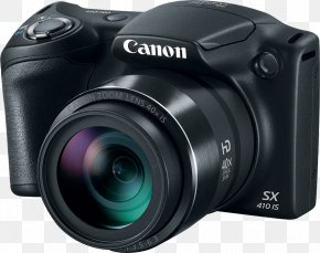 Camera - Canon PowerShot SX410 IS Point-and-shoot Camera Photography PNG