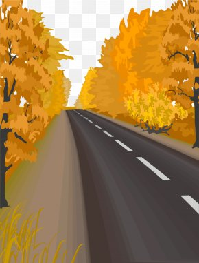 Vector Painted Road - Road Euclidean Vector Download PNG