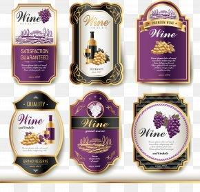 Wine Logo - Wine Label Vintage PNG