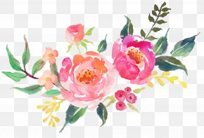 Beautiful Fresh Flowers Watercolor - Decal Etsy Interior Design Services PNG