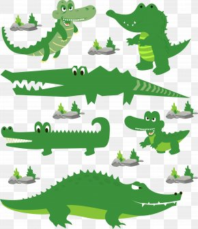 Green Cartoon Crocodile PNG