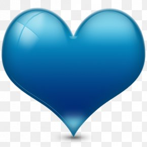 Blue Heart Icon - Heart Blue Clip Art PNG
