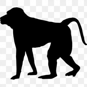 Silhouette - Baboons Mandrill Silhouette Clip Art PNG
