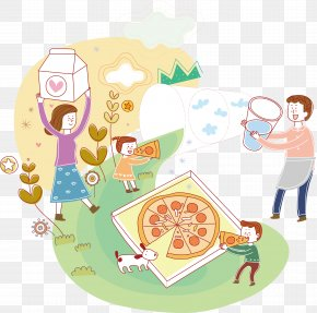 Family Picnic Vector - Illustration PNG
