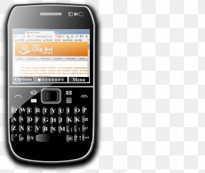 Blackberry - BlackBerry Torch 9800 Smartphone Telephone Clip Art PNG