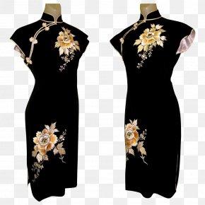 Dress - Dress Cheongsam Fashion Silk Sleeve PNG