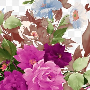 Peony Flower Butterfly - Macizos De Flores Flower Moutan Peony Floral Design PNG