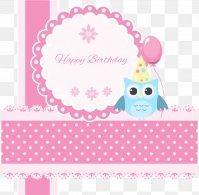Vector Paper Cutting - Paper Birthday Greeting Card Owl E-card PNG