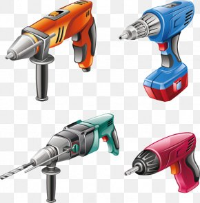 Vector Electric Drill Electric Screwdriver - Hand Tool Power Tool Euclidean Vector PNG
