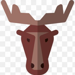 Brown Deer - Reindeer Moose Icon PNG