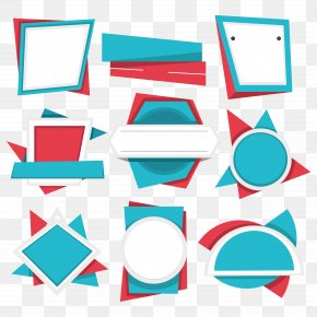Different Shapes Of Labels - Euclidean Vector PNG