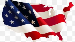 Usa Flag - Flag Of The United States Map Clip Art PNG