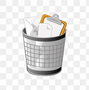 Cartoon Trash Can - Waste Container Clip Art PNG