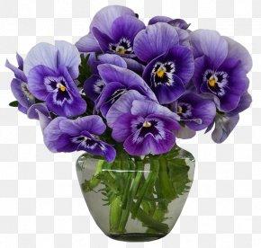 Violet - Flower Violet Vase Pansy Purple PNG