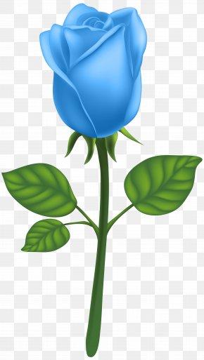 Blue Deco Rose Clip Art Image - Garden Roses Adobe Illustrator Clip Art PNG