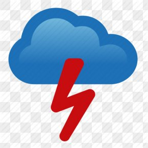 Icon Pictures Thunderstorm - Thunderstorm Cloud Weather PNG