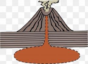 Volcano Transparent - Volcano Diagram Clip Art PNG