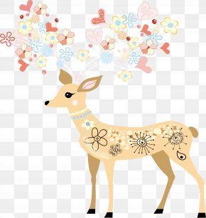 Deer,Pattern - Paper Window Wall Decal Polyvinyl Chloride Sticker PNG