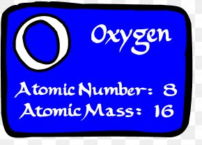 Oxygen - Ecosystem Oxygen Periodic Table Atomic Number Chemical Element PNG