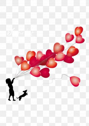 A Child Holding A Bunch Of Balloons - Engagement Party Banner PNG