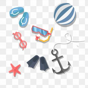 Summer Beach Clip Art Vector Material - Beach Summer Clip Art PNG