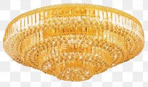 Gold Chandelier - Chandelier Lighting Crystal Lamp PNG